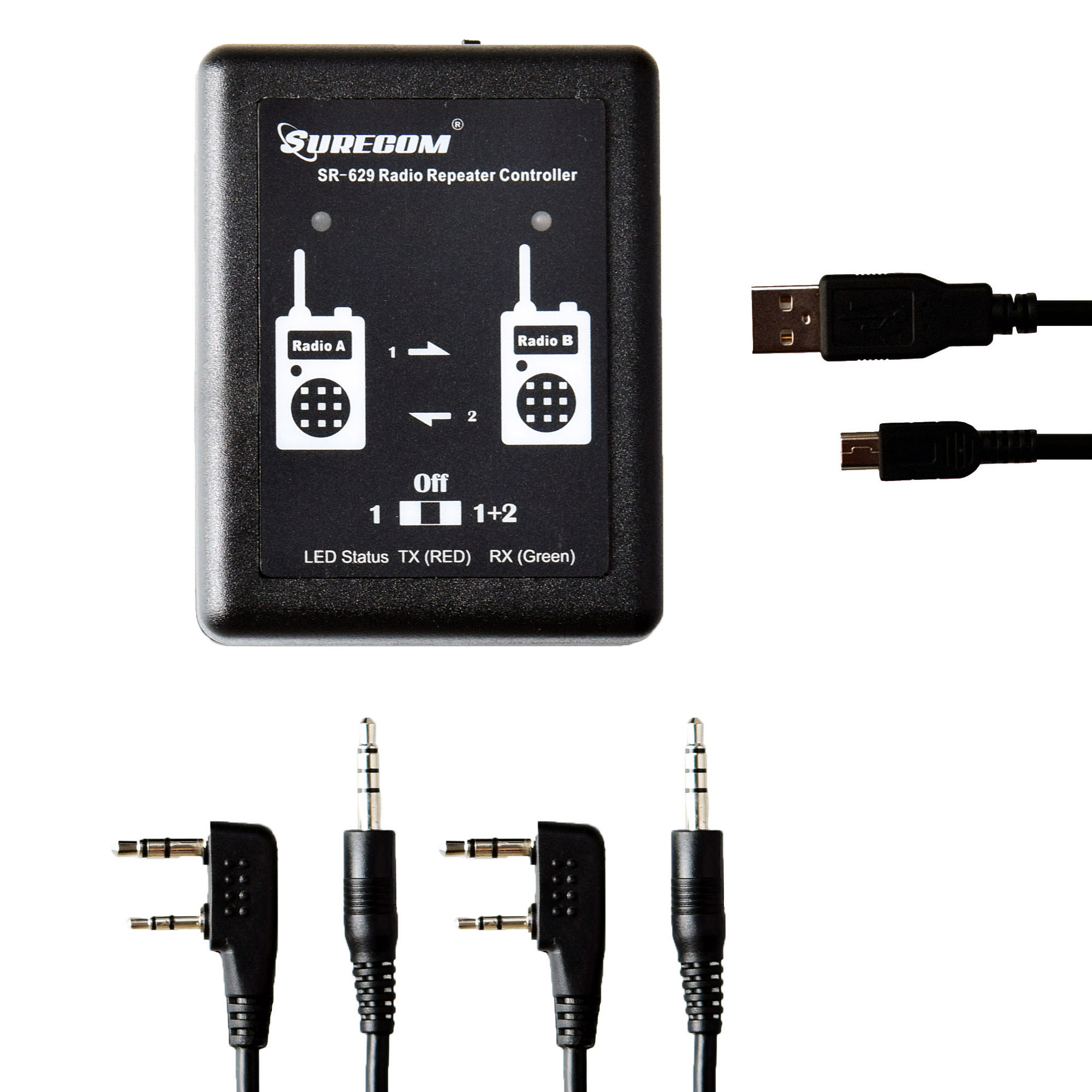Surecom SR-629 2in1 Duplex Cross Band Radio Repeater Controller with Radio Cable